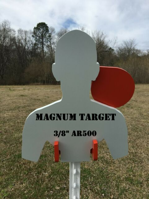 AR500 Steel Hostage Angled IDPA 2//3 Shooting Target 3//8 AR500 With Collapsible