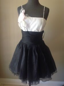 6ab8c18dffa79 Image is loading JESSICA-McCLINTOCK-Ivory-Black-Special-Occasion-Dress- Graduation-