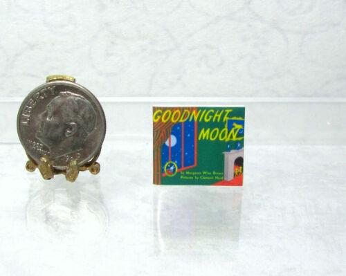 Dollhouse Miniature GOODNIGHT MOON  thin non-opening  Book