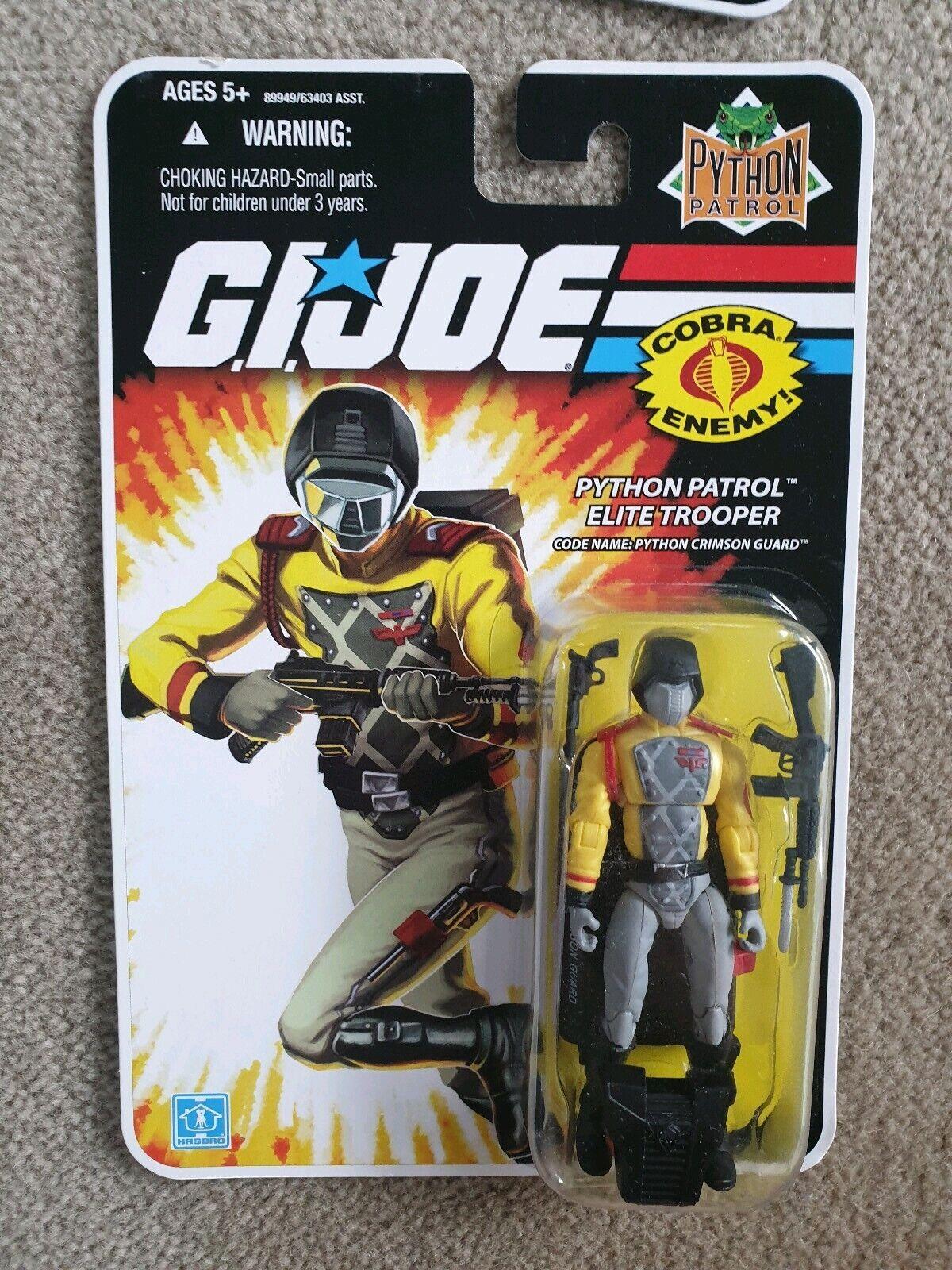 GI Joe 25th python patrol elite trooper crimson guard