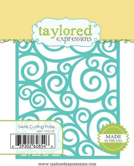 "Taylored Expressions SWIRLS CUTTING PLATE TE138 Approx 4/"" x 5.25/"""