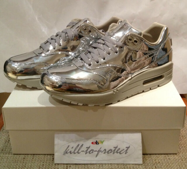 4dd797d5 Nike Air Max 1 SP Liquid Silver Trainers Size 8 UK Women's. 616170-090. DS  for sale   eBay