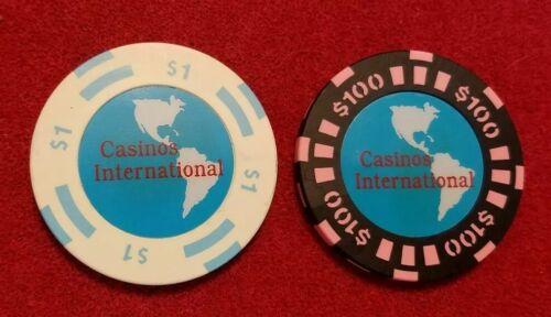 Casinos International  ~ set of 2 chips
