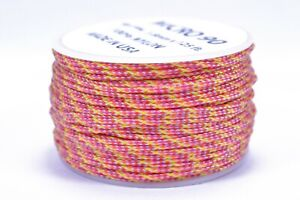 Micro Cord 1.18mm 125ft Nylon Rope Spool Goldenrod Made in the USA