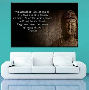 Famous Quote Of Buddha 1 Panel Canvas Print Wall Art