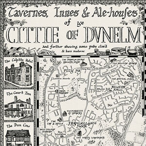 The-Pubs-of-Durham-Map-Fine-Art-Prints-by-Manuscript-Maps