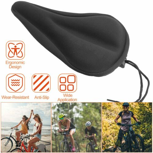 Soft Bicycle Silicon Gel Seat Cover Most Comfortable Bike Saddle Cushion Spin
