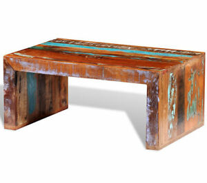Details About Handcrafted Wooden Coffee Table Chunky Rustic Furniture Rectangular Solid Wood