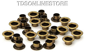1 4 Inch Diameter Antique Brass Plated Eyelets Package Of 24 Ebay