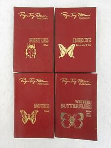 Lot of 4 ROGER TORY PETERSON FIELD GUIDES Insects Easton Press 50th Anniversary