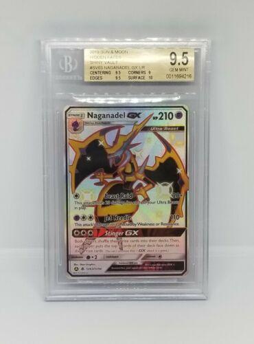 GEM MINT NAGANADEL SV63//SV94 FULL ART HOLO POKEMON CARD HIDDEN FATES SET BGS