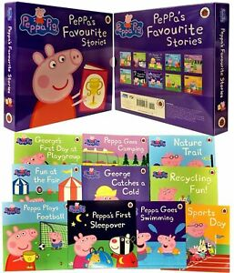 Peppa-Pig-Favourite-Stories-10-Books-Children-Collection-Paperback-By-Ladybird