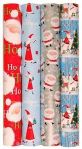 4 Rolls X 5M Christmas Gift Wrap Wrapping Paper Roll Or Matching 20 x Gift Tags