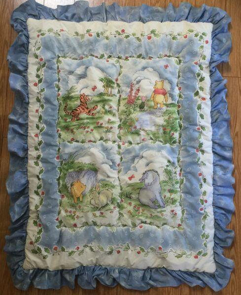 Minnelijk Vintage Classic Winnie The Pooh Blue Comforter Baby Crib Bedding By Red Calliope