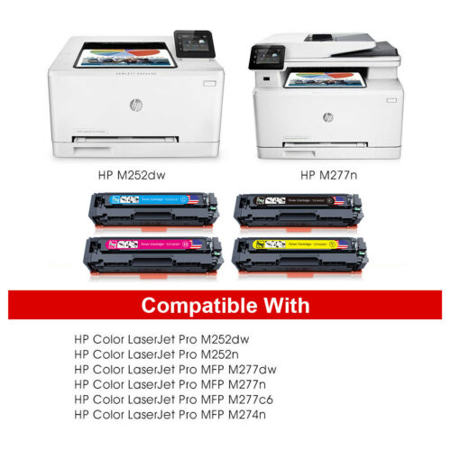 4-Pk Toner Set for HP 201X Color LaserJet Pro MFP M277dw M277 M252dw M252 CF400X