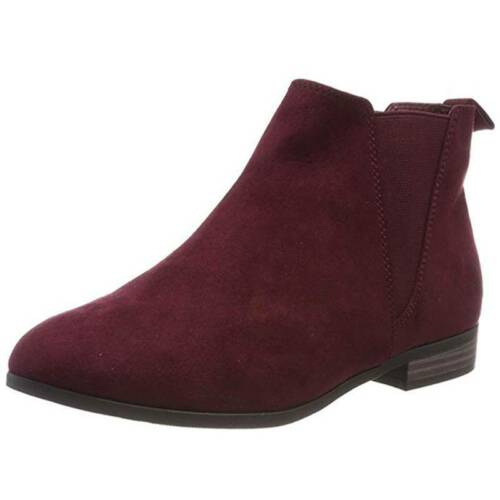 Womens Ankle Boots Winter Low Block Heels Booties Casual Warm Shoes Size 6-10.5