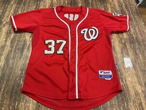 Stephen Strasburg Washington Nationals Red MLB Jersey - Majestic - Size 50