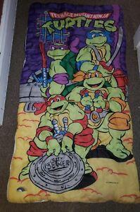 Image Is Loading Vintage 1990 Age Mutant Ninja Turtle Sleeping Bag