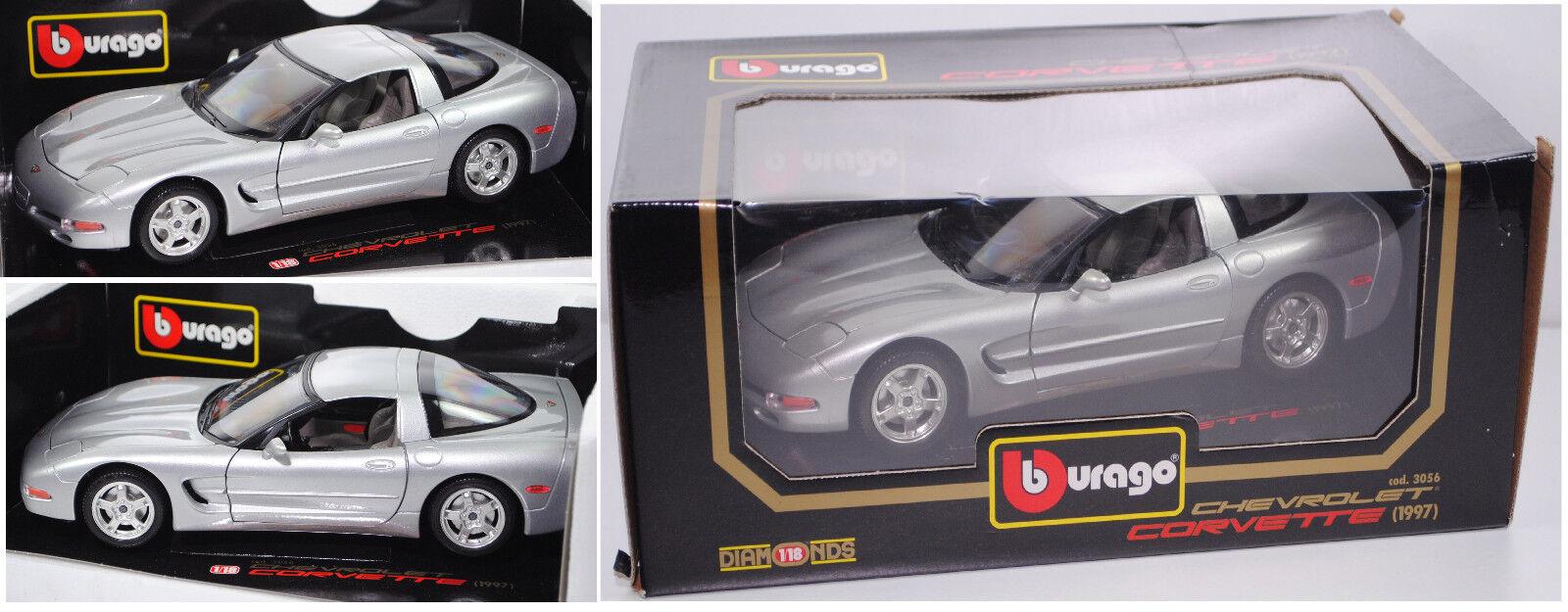 Bburago 3056 Chevrolet Corvette Coupé, silber, 1 18    Verrückter Preis, Birmingham