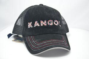 Image is loading Kangol-Trucker-Mesh-Baseball-Hat-Cap-BLACK-M00974- 0da18941187f