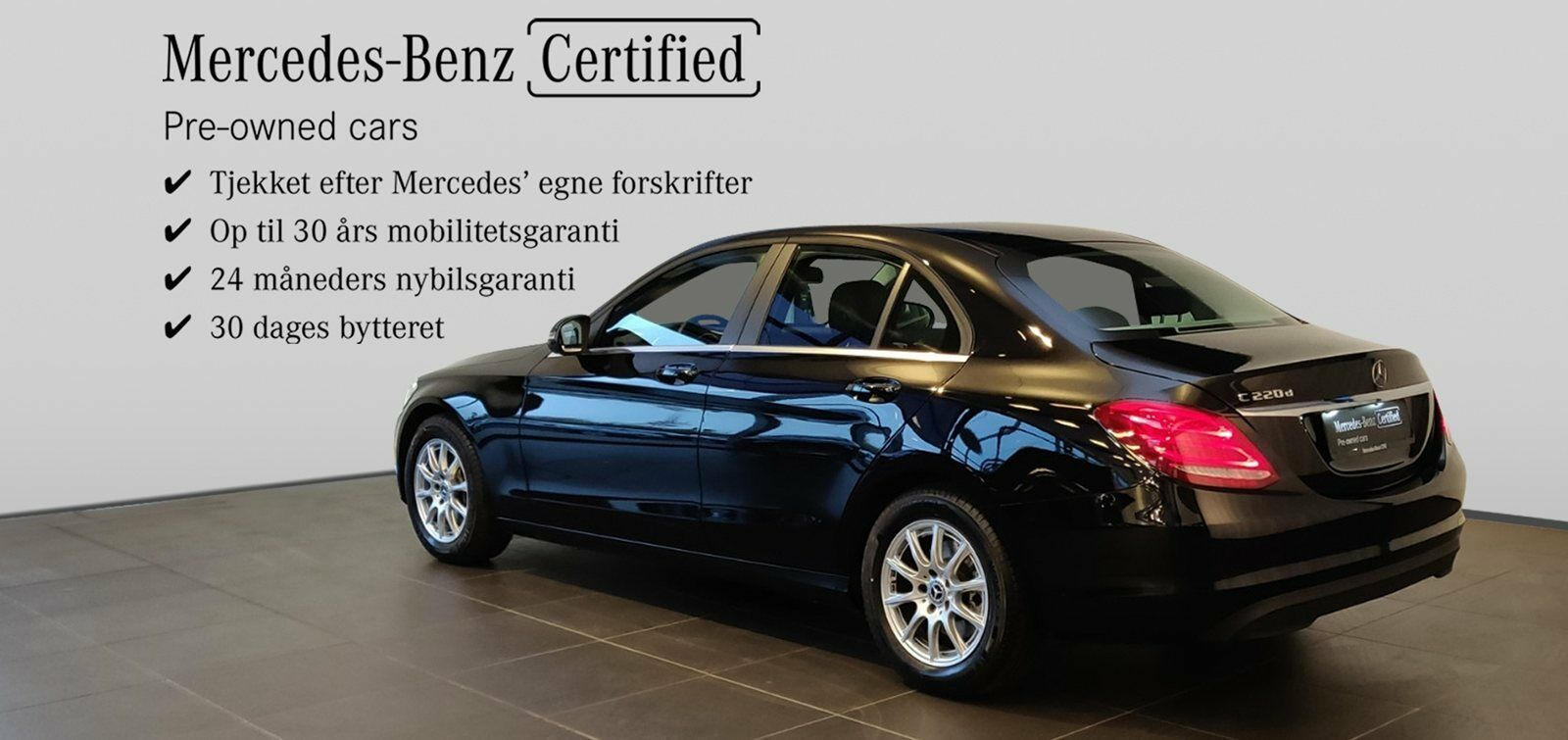 Mercedes C220 d 2,2 Business aut. 4d - 399.900 kr.