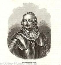 antique print Michiel de Ruyter portrait / portret Ruiter stampa antica