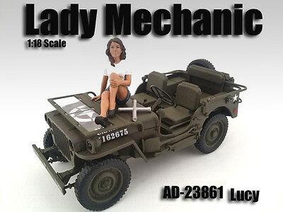 Betrouwbaar Lady Mechanic - Lucy - 1/18 Scale Figure/figurine - American Diorama