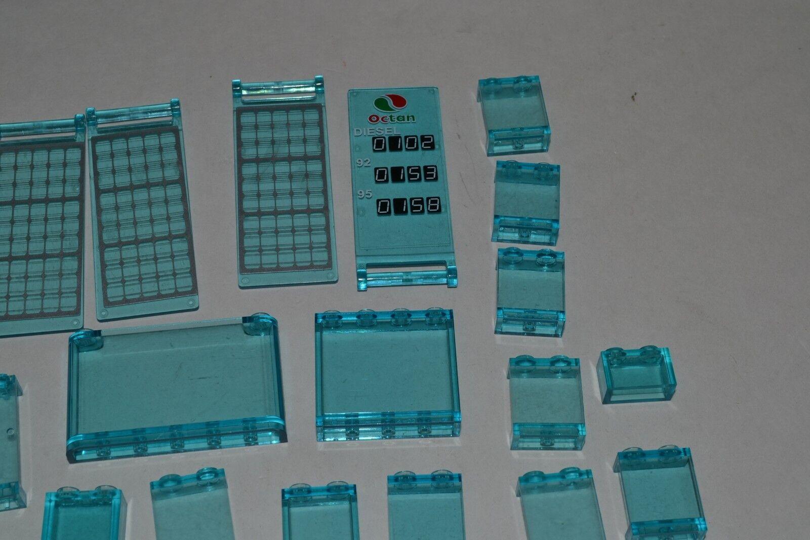 Lego Lot Walls of Transparent Trans-Blau Panels Walls Lot Parts Windows ADGP 2084f7