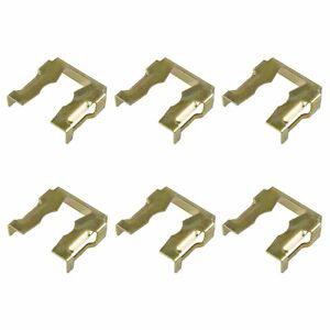 6x-Klammer-fuer-Bosch-Einspritzduese-Einspritzventile-NEU-VW-VR6-AAA-verzinkt-gelb
