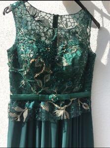am besten auswählen attraktive Farbe Genieße den reduzierten Preis Details zu Smaragdgrünes Abendkleid Gr.36/38 S/M Abendkleid elegant  besondere Anlässe grün