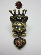 Crystal Leopard Heart Cat Ring Size 6