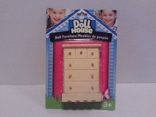 "Wooden Dollhouse Furniture /""Chest/"" Girls Pretend Play Doll Toy Game Arts//Craft"