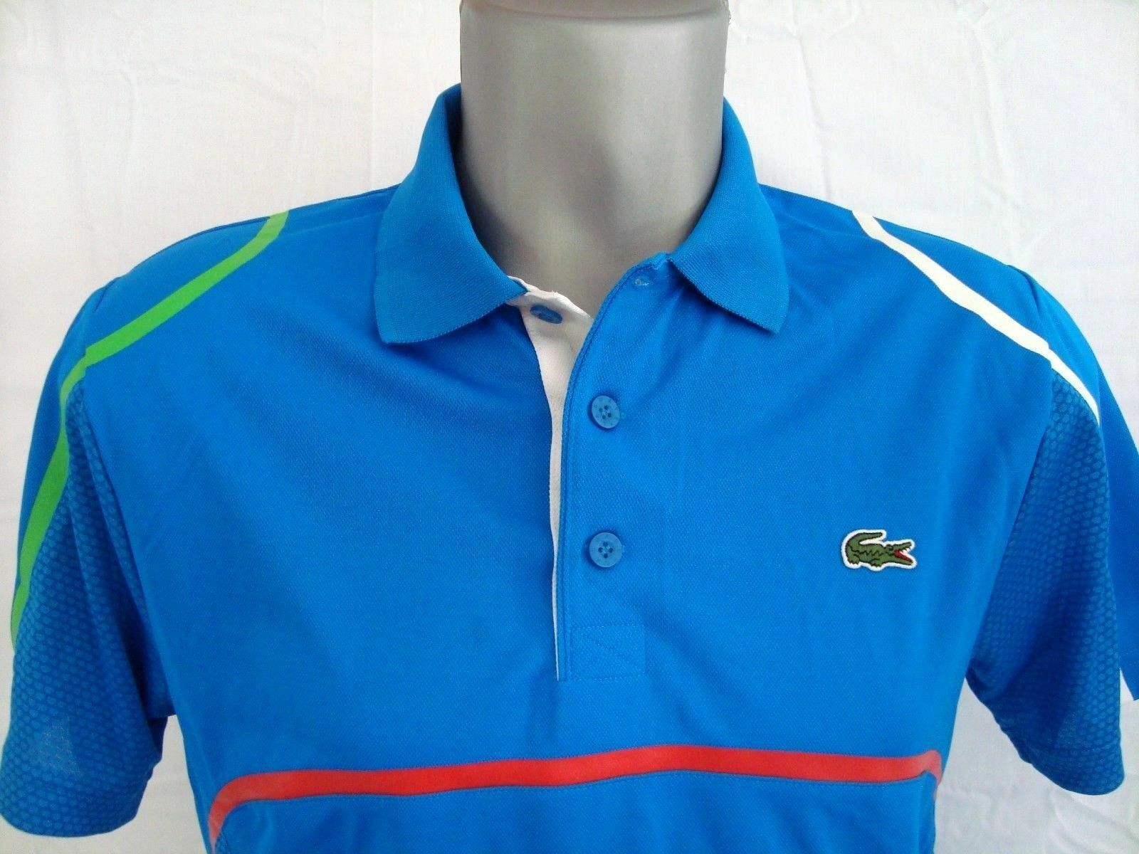 f6f3fdaf5 Lacoste SPORT bluee Ultra Dry Men s Athletic Jersey Polo Shirt NWT Sz. XS