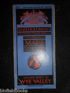 Vintage Bartholomew Map of the Wye Valley  1934  Cloth Mounted inc Worcester - <span itemprop=availableAtOrFrom>Norwich, United Kingdom</span> - Returns not accepted unless misdescribed or otherwise agreed. Postage to be met by sender. Most purchases from business sellers are protected by the Consumer Contract Regulations 2013 whi - Norwich, United Kingdom