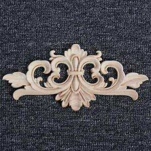 Wood-Onlay-Applique-Wooden-Woodcarving-Decal-Furniture-Carving-Home-Decoration