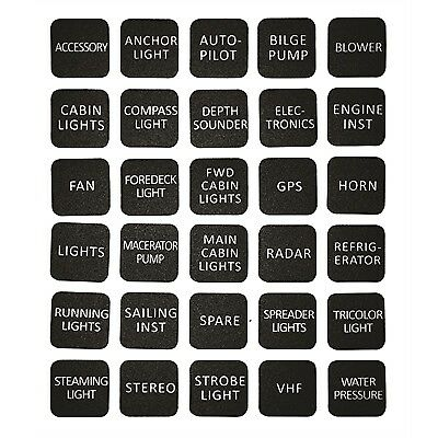 Marine Label Kit for Switch Panel Fits all Marpac// switch panels