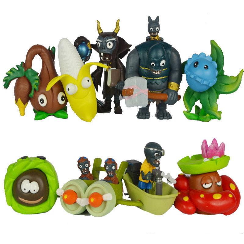 10pcs Plants vs Zombies Game Gargantuar Action Figures Set PVC Toys Kid Gift