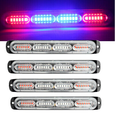 Details about  /24 LED Emergency Flash Strobe /& Rotating Beacon Warning Light 24W Amber//Red//Blue