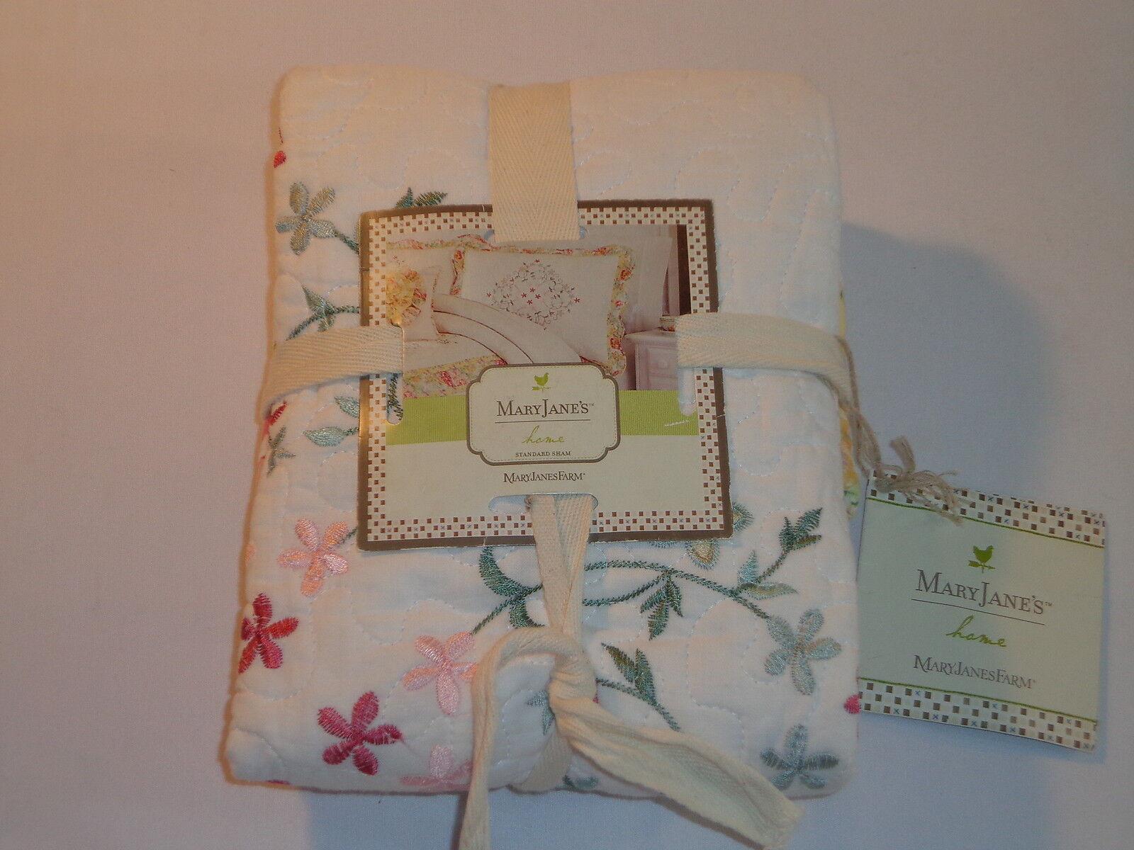 Mary Jane's Home Standard Pillow Sham - Garden Bouquet