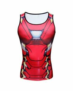 "Iron Man Tank Top - ""Avengers Civil War"" armor - Workout ..."