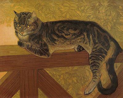 Steinlen Fine Art Nouveau 16X20 Art Poster FREE SH Cat Tabby Resting artist