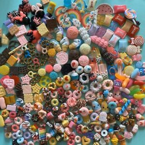 Assorted Kawaii Resin Sweet Cabochons Slime Charms 100 pieces