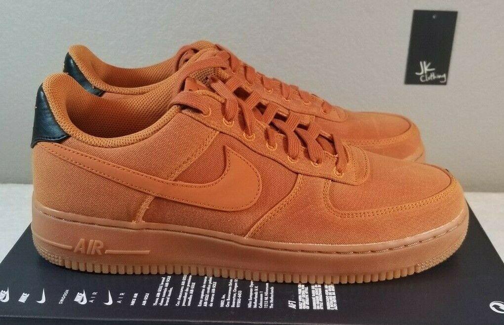 Nike Air Force 1 '07 Lv8 Style Monarch Brown Gum Size US 10 Men Aq0117 800