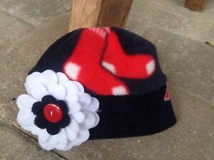 Image is loading Boston-Red-Sox-MLB-fleece-Flower-Hat-Newborn- 71f18754534