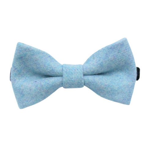 Great Reviews Children/'s Kids Boys Light Blue Elasticated Wool Bow Tie UK.