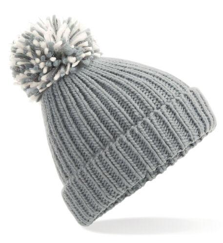 Womens Winter Bobble Hat Ladies Chunky Pom Pom Beenie Woolly Apres Ski Beanie