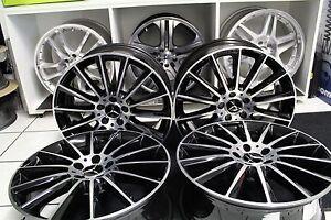 Original-Mercedes-AMG-LLANTAS-DE-ALUMINIO-JUEGO-KIT-19-pulgadas-negro-W205-S205