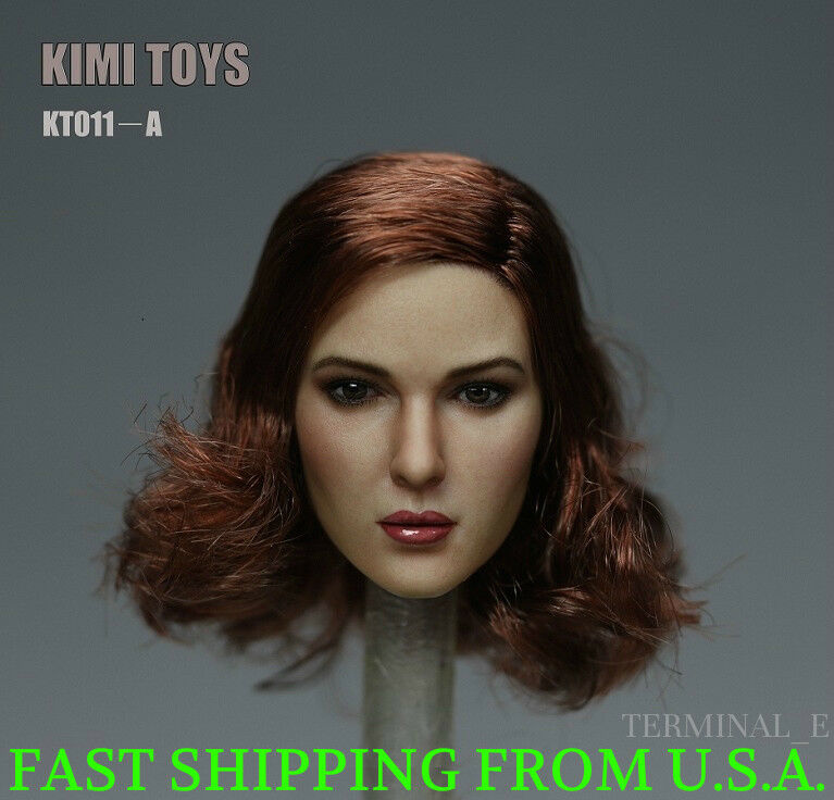 KIMI KT011 A 1 6 Female Head Sculpt Short Short Short Hair For Hot Toys Phicen Figure ❶USA❶ a573a9