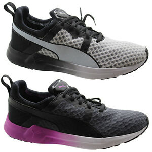 Puma Pulse Xt Core Womens Trainers Running Shoes Grey White Lace Up ... 955014990