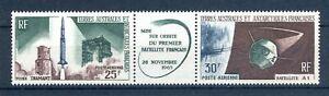 franz. Antarktis MiNr. 33-34 postfrisch MNH Satelliten (W929